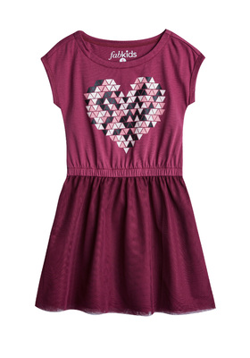 FabKids Dresses Geo Heart Tutu Dress Girls Purple Size XL She will love this graphic tutu dress from Fabkids! Fully lined with slight stretch for easy dressing and playing. Perfect for multiple occasions, from playwear to school.