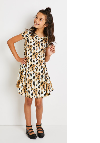 Hi-Low Leopard Print Dress