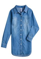Hi-Low Chambray Shirt Dress
