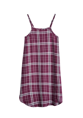 FabKids Dresses Plaid Slip Dress Girls Red Plaid Size XXS She will love this slip dress with a high neck design! Layer with a basic tee to complete her fashionista look. Perfect for multiple occasions, from playwear to school.