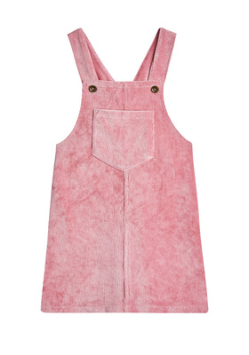 FabKids Dresses Stretch Corduroy Skirtall Girls Pink Size L Featuring a font patch pocket and button straps, this corduroy skirtall is a must have for your little fashionista! Pair back to a fashion knit top to complete her stylish look.