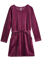 Velour Sweatshirt Dress