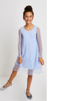Mesh Overlay Dress
