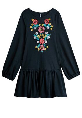 Floral Print Drop Waist Dress