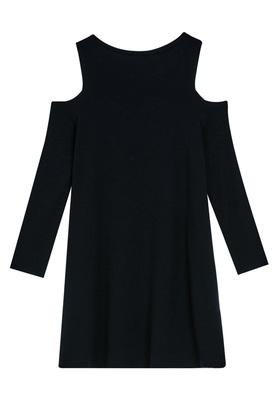 Cold Shoulder Drapey Dress