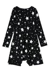 Star Print Fit & Flare Dress