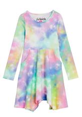 Rainbow Cloud Fit & Flare Dress