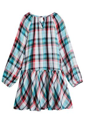 Plaid Drop Waist Dress