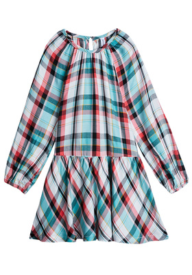 FabKids Dresses Plaid Drop Waist Dress Girls Plaid Multi Size XXS She will look pretty in plaid in this adorable drop-waist dress! Featuring a ruffle hem and keyhole button closure, this dress is comfy, chic, and twirl ready! Perfect for multiple occasions, from playwear to school.