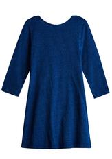 Indigo Knit Baby Doll Dress