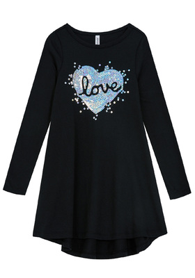 Love Sequin T-Shirt Dress