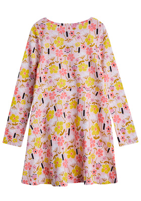 Pink Floral Baby Doll Dress