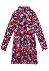 Velvet Mock Neck Dress