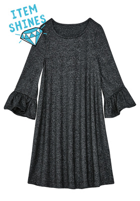 Bell Sleeve Shimmer Dress