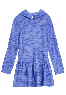 FabKids Dresses Hooded Drop-Waist Dress Girls Purple Size XXS Our textured hooded dress is comfy and stylish! Made of inside out french terry fabric that is sure to keep her warm and cozy. Perfect to pair back to her favorite leggings to complete her stylish look.