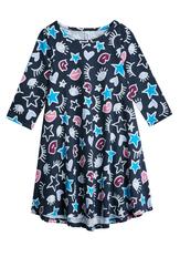 Hi-Low Doodle Star Dress