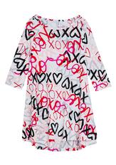 Love Print Hi-Low Dress