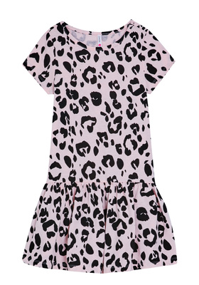 FabKids Dresses Leopard Drop Waist Dress Girls Cheetah Size XL She will look fierce in this adorable drop-waist dress! Featuring a ruffle hem and all over cheetah print. This dress is comfy, chic, and twirl ready! Perfect for multiple occasions, from playwear to school.