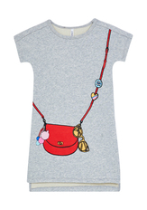 Purse Graphic Sweatshirt Dress