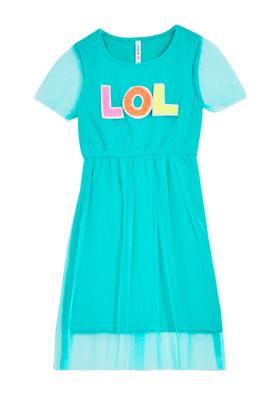 Lol Mesh Overlay Dress