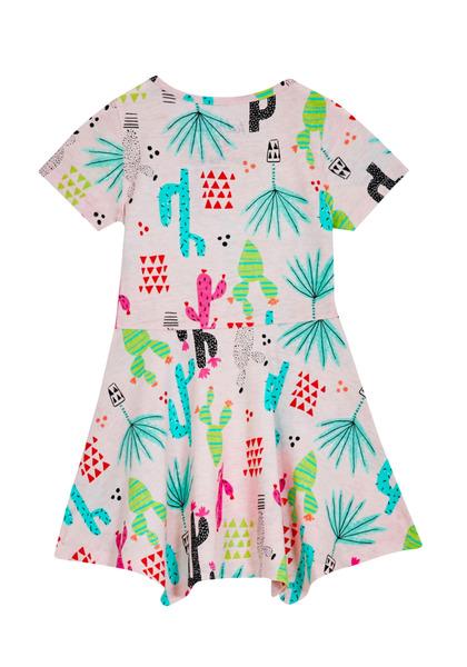 Cactus Handkerchief Hem Dress