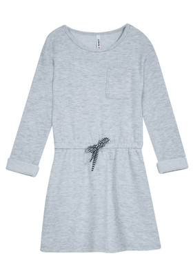 FabKids Dresses Pocket Sweatshirt Dress Girls Gray Size XS This comfy sweatshirt dress is perfect for everyday wear! Featuring super soft fabric and elasticized waistband with faux drawstring. Perfect for multiple occassions, from playwear to school.