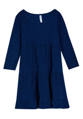 Indigo Tiered Babydoll Dress