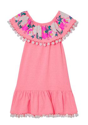 Pom Pom Embroidered Dress