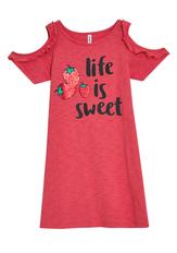 Life Is Sweet Cold Shoulder Dress