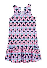 Triangle Print Hi-Low Tank Dress