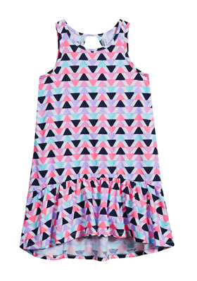 Triangle Print Hi-Low Tank Dress