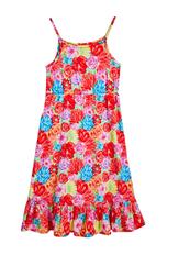 Havana Floral Print Ruffle Dress
