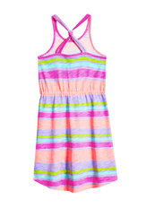 Striped Knot Back Dress
