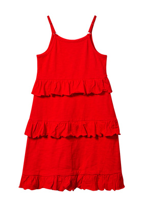 Tiered Ruffle Tank Dress