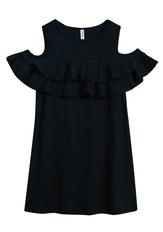 Cold Shoulder Double Ruffle Dress