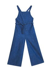 Chambray Wide Leg Tie Jumpsuit