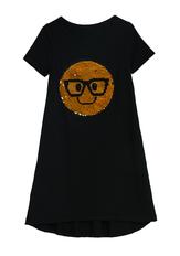 Smiley Flip Sequin T-Shirt Dress