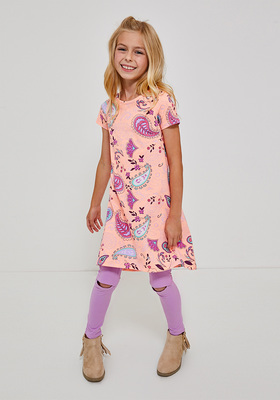 Paisley Print T-Shirt Dress