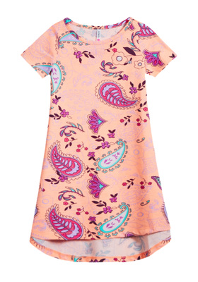 Bird Print T-Shirt Dress