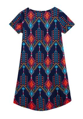 Tribal Print T-Shirt Dress