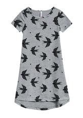Bird Print T-Shirt Dress