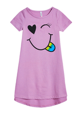 Smiley Face T-Shirt Dress