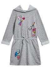 Emoji Patch Sweatshirt Dress
