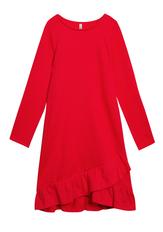 Ruffle Sweatshirt Dress