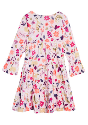 Tiered Outdoor Floral Dress
