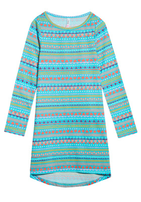 Blue Geo T-Shirt Dress