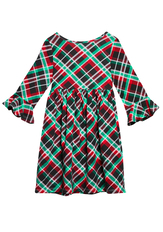 Plaid Baby Doll Dress