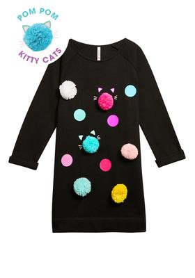 Pom Pom Sweatshirt Dress
