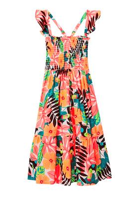 Toucan Ruffle Dress
