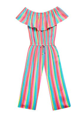Striped Ruffle Jumpsuit